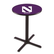 L211 - Black Wrinkle Northwestern Pub Table by Holland Bar Stool Co.
