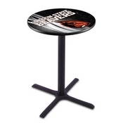 L211 - Black Wrinkle Oregon State Pub Table by Holland Bar Stool Co.