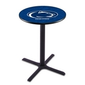 L211 - Black Wrinkle Penn State Pub Table by Holland Bar Stool Co.