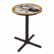 L211 - Black Wrinkle Pittsburgh Penguins Pub Table by Holland Bar Stool Co.