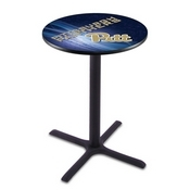 L211 - Black Wrinkle Pitt Pub Table by Holland Bar Stool Co.