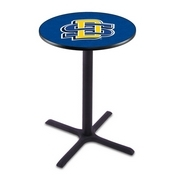 L211 - Black Wrinkle South Dakota State Pub Table by Holland Bar Stool Co.