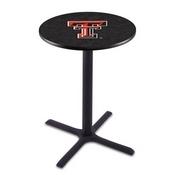 L211 - Black Wrinkle Texas Tech Pub Table by Holland Bar Stool Co.
