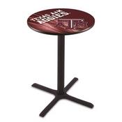 L211 - Black Wrinkle Texas A&M Pub Table by Holland Bar Stool Co.