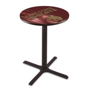 L211 - Black Wrinkle Texas State Pub Table by Holland Bar Stool Co.