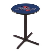 L211 - Black Wrinkle Tulsa Pub Table by Holland Bar Stool Co.