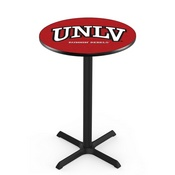 L211 - Black Wrinkle UNLV Pub Table by Holland Bar Stool Co.