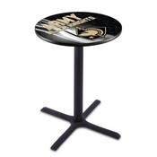 L211 - Black Wrinkle US Military Academy (ARMY) Pub Table by Holland Bar Stool Co.