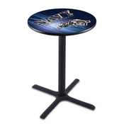 L211 - Black Wrinkle US Naval Academy (NAVY) Pub Table by Holland Bar Stool Co.