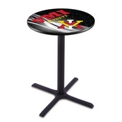 L211 - Black Wrinkle Virginia Military Institute Pub Table by Holland Bar Stool Co.