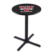 L211 - Black Wrinkle Valdosta State Pub Table by Holland Bar Stool Co.