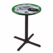 L211 - Black Wrinkle Vancouver Canucks Pub Table by Holland Bar Stool Co.