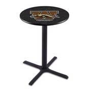 L211 - Black Wrinkle Western Michigan Pub Table by Holland Bar Stool Co.