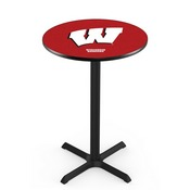 L211 - Black Wrinkle Wisconsin W Pub Table by Holland Bar Stool Co.
