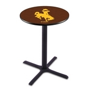 L211 - Black Wrinkle Wyoming Pub Table by Holland Bar Stool Co.