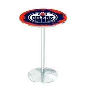 L214 - Edmonton Oilers Pub Table by Holland Bar Stool Co.