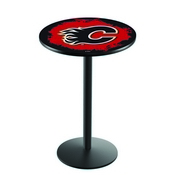 L214 - Calgary Flames Pub Table by Holland Bar Stool Co.
