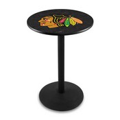 L214 - Chicago Blackhawks Pub Table by Holland Bar Stool Co.