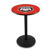 L214 - Georgia Bulldog Pub Table by Holland Bar Stool Co.