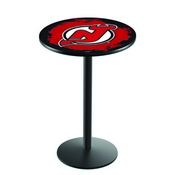 L214 - New Jersey Devils Pub Table by Holland Bar Stool Co.