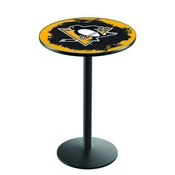 L214 - Pittsburgh Penguins Pub Table by Holland Bar Stool Co.
