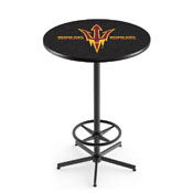 L216 - Arizona State Pub Table with Pitchfork Logo by Holland Bar Stool Co.