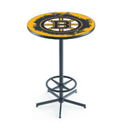 L216 - Boston Bruins Pub Table by Holland Bar Stool Co.