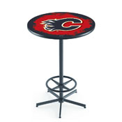 L216 - Calgary Flames Pub Table by Holland Bar Stool Co.
