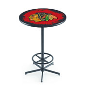 L216 - Chicago hawks Pub Table by Holland Bar Stool Co.