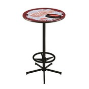 L216 - Detroit Red Wings Pub Table by Holland Bar Stool Co.