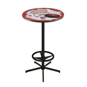 L216 - Florida Panthers Pub Table by Holland Bar Stool Co.