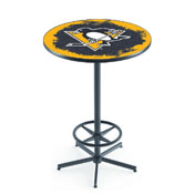 L216 - Pittsburgh Penguins Pub Table by Holland Bar Stool Co.