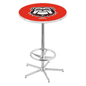 L216 - Georgia Bulldog Pub Table by Holland Bar Stool Co.