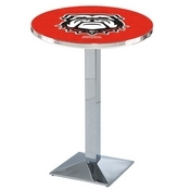 L217 - Georgia Bulldog Pub Table by Holland Bar Stool Co.