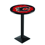 L217 - Calgary Flames Pub Table by Holland Bar Stool Co.