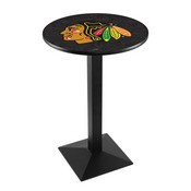 L217 - Chicago Blackhawks Pub Table by Holland Bar Stool Co.