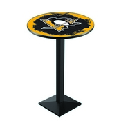 L217 - Pittsburgh Penguins Pub Table by Holland Bar Stool Co.