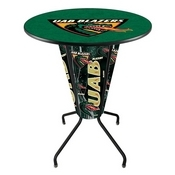 Lighted L218 - 42 Black UAB Pub Table by Holland Bar Stool Co.