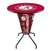 Lighted L218 - 42 Black Alabama Pub Table by Holland Bar Stool Co.(A Logo)