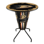 Lighted L218 - 42 Black Anaheim Ducks Pub Table by Holland Bar Stool Co.