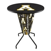 Lighted L218 - 42 Black Appalachian State Pub Table by Holland Bar Stool Co.