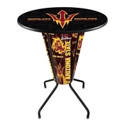 Lighted L218 - 42 Black Arizona State Pub Table with Pitchfork Logo by Holland Bar Stool Co.