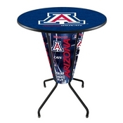 Lighted L218 - 42 Black Arizona Pub Table by Holland Bar Stool Co.