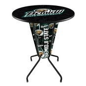 Lighted L218 - 42 Black Bemidji State Pub Table by Holland Bar Stool Co.