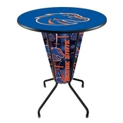 Lighted L218 - 42 Black Boise State Pub Table by Holland Bar Stool Co.