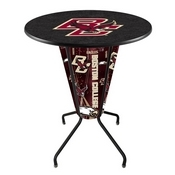 Lighted L218 - 42 Black Boston College Pub Table by Holland Bar Stool Co.
