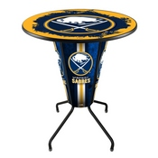 Lighted L218 - 42 Black Buffalo Sabres Pub Table by Holland Bar Stool Co.