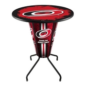 Lighted L218 - 42 Black Carolina Hurricanes Pub Table by Holland Bar Stool Co.