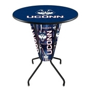 Lighted L218 - 42 Black Connecticut Pub Table by Holland Bar Stool Co.
