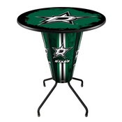 Lighted L218 - 42 Black Dallas Stars Pub Table by Holland Bar Stool Co.